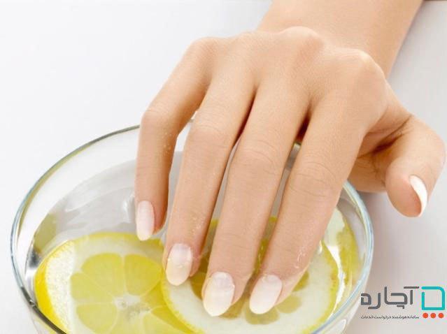 آب لیمو برای تقویت ناخن