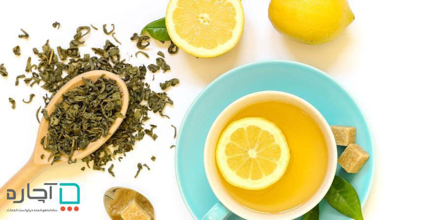 مسک لیمو و چای سبز برای پوست چرب با آچاره
