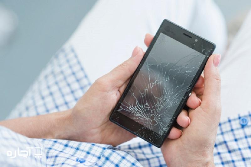 شکستن صفحه گوشی- تعمیر موبایل در محل آچاره