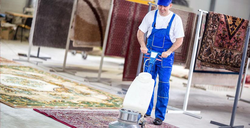 قالیشویی با روش نیمه اتوماتیک