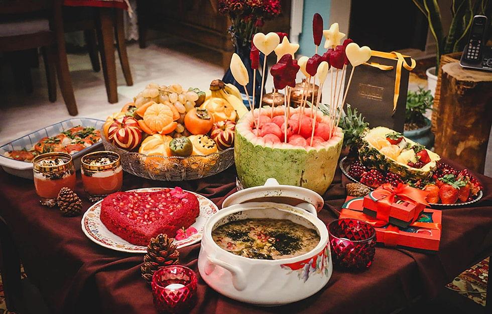 آداب و رسوم و غذاهای شب یلدا در اصفهان
