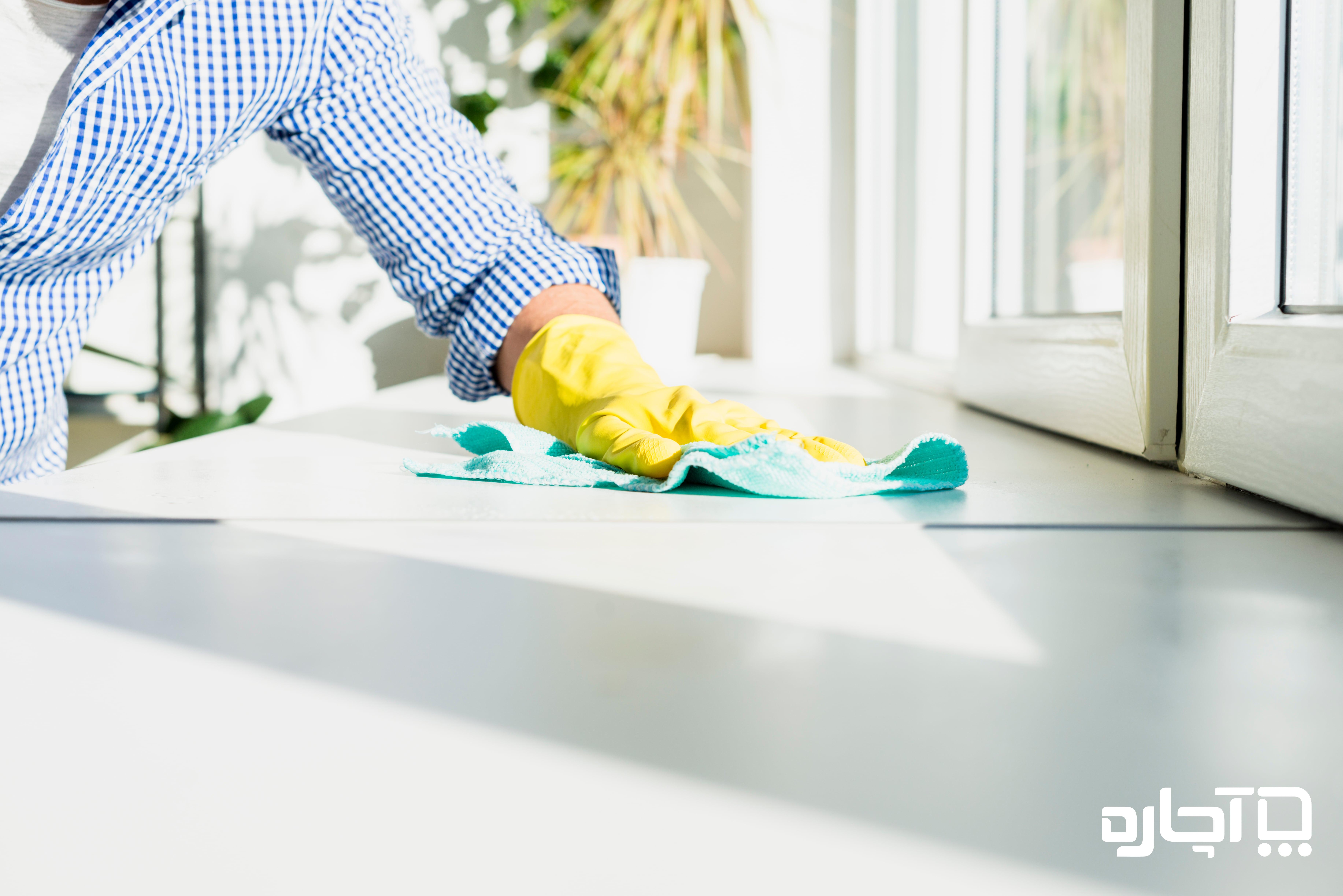کارگر نظافت منزل خانم و آقا