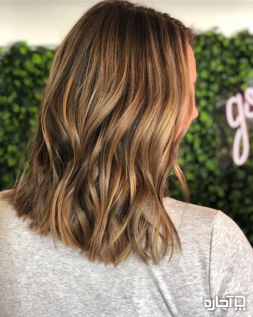 هایلات مو به رنگ قهوه بر روی مو تیره ، مشکی و قهوه ای
