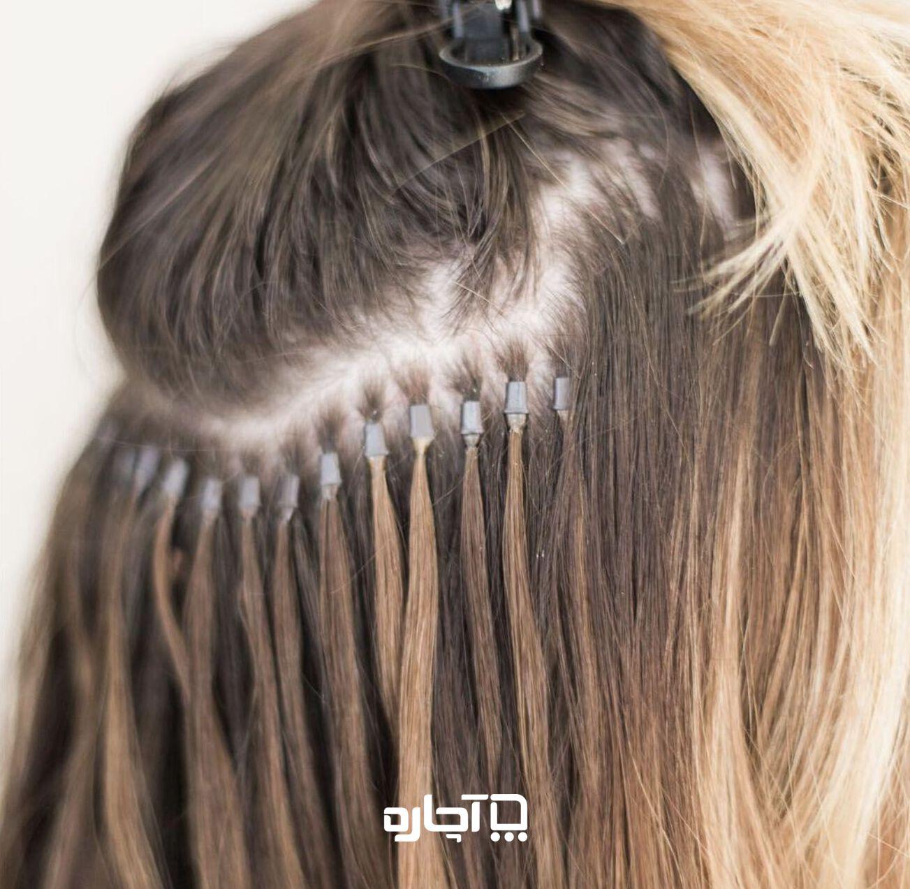 اکستنشن مو به روش سرد
